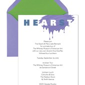 Art / Eat Invitation for Hearst Fundraiser