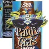 Bud Light Pardi Gras table tent