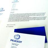 Peugeot logo stationery system