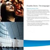 Rosetta Stone Institutional Brochure (spread)