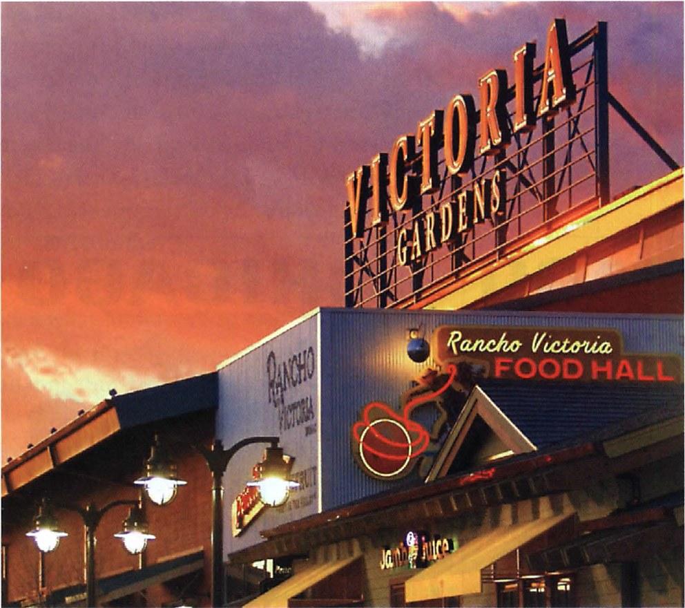 Food Hall At Victoria Gardens Communication Arts
