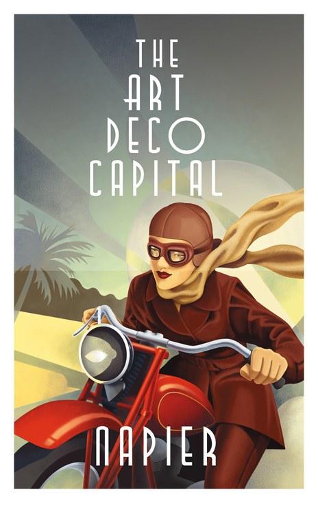 Napier Quot Art Deco City Quot Poster Campaign Communication Arts
